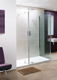 Lakes Shower Door 1700 X 800mm Walk In 8mm Wetroom Shower Enclosure Recess With Tray