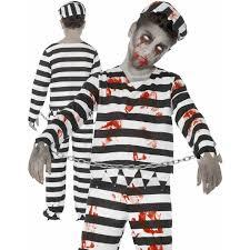 Halloween Costume Prisoner Kids Zombie Prisoner Convict Boys Halloween Horror Fancy Dress