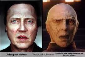 Christopher Walken Meme - christopher walken totally looks like voldemort from harry potter
