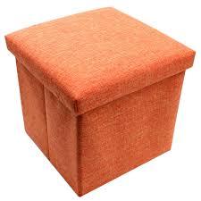 wallmark fabric ottoman storage box chairs orange lazada ph
