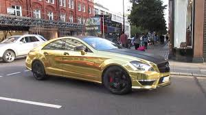 chrome benz chrome gold mercedes cls63 amg acceleration youtube