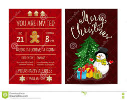 personal offer to join corporate christmas party stock vector
