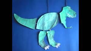 easy dinosaur crafts for kids youtube