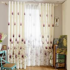 Bedroom Curtains Ivory Poly Cotton Floral Curtains Bedroom Curtains