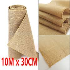 fabric for table runners wedding 10m x 30cm hessian table runners hessian roll fabric burlap jute