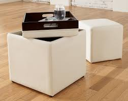 Leather Ottoman With Storage And Tray by Furniture Storage Ottoman With Tray Stylish Concept Of Ikea