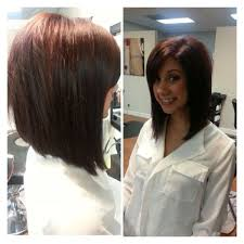 in front medium haircuts best 25 long angled bobs ideas on pinterest long angled haircut