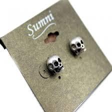 skull stud earrings vintage style skull stud earrings stud earrings earrings