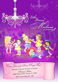 Disney Princess Invitation Cards Disney Baby Princess Personalized Digital Invitation With