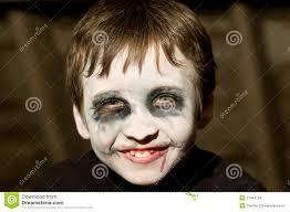 jonge jongen met halloween make up stock afbeeldingen afbeelding