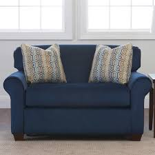 indigo leather sofa talbert fabric sleeper chair indigo blue