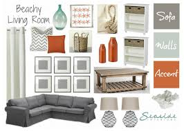 Beachy Living Rooms by Seaside Interiors Beachy Living Room With Grays And Orange