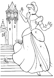 print u0026 download cinderella loosing shoes coloring pages