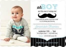 blue and black moustache 1st birthday invitation boy birthday