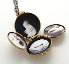 Personalized Photo Locket Necklace Locket Silver Locket Jewelry Gift Four Photo Folding Jewelry