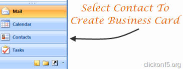 Make A Business Card Create A Business Card In Microsoft Outlook And Attach As Signature