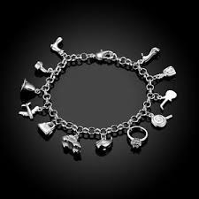 ebay jewelry silver charm bracelet images 925 sterling silver good luck lucky charm bracelet l149 ebay jpg
