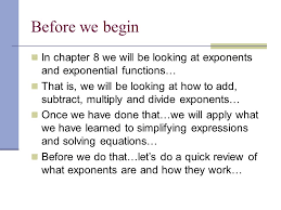 ch 8 1 u2013 multiplication property of exponents ppt video online