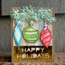 mixed media mojo happy ornaments mixed media christmas card
