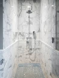 Herringbone Bathroom Floor by Boy U0027s Bathroom Shower Seattle Wa Statuary Carrara Marble