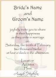 wedding programs wording sles wedding invitation wording sles 21st invitation wording and