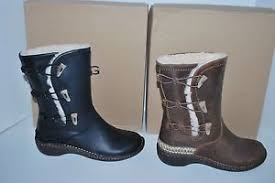 s ugg australia brown leather boots nib ugg australia kona 5156 toast brown black leather boots 7 8 9