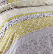 Yellow And Grey Bed Set Catherine Lansfield Bird Duvet Quilt Cover Bedding Bed