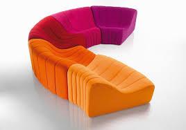 canapé chauffeuse modulable canapé modulable design original en tissu 7 places et plus