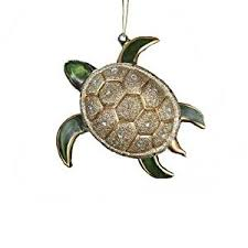 kurt adler glass glitter sea turtle ornament 4 75