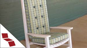 Custom Chair Cushions How To Measure For A Custom Rocking Chair Cushion Youtube
