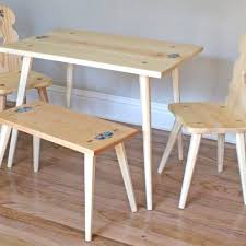 Woodworking Plans For Table And Chairs by Heidi U0027s Table U0026 Chair Woodworking Plans Forest Street Designs