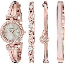 swarovski crystal bracelet watches images Anne klein gold tone bangle watch with bracelet set e buyprocure jpg