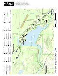 easton map lake easton state park cground cing in washington