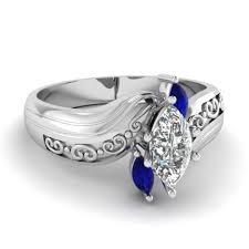 Blue Wedding Rings by Wedding Rings Wedding Rings Blue Diamond Blue And Diamond