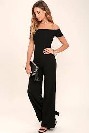 Formal Jumpsuits For Wedding Black Jumpsuit Off The Shoulder Jumpsuit Wide Leg