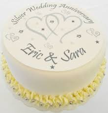 silver wedding anniversary cake toppers 28 images silver pearl