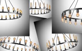spark chandelier showcases bare bulbs u0027 beauty