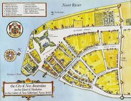 New York Islands Map by The History Fort Amsterdam