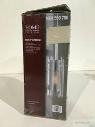 Home Decorators Co Home Decorators Collection 1 Light Chrome Shade Mesh Cylinder