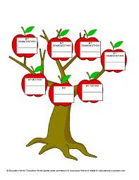 education three generation family tree template