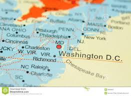 Washington Dc Maps Washington D C On Map Stock Photo Image Of Washington 6838494
