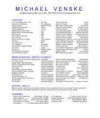 Commercial Acting Resume Sample Resume Samples For Kids Acting