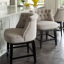 Bar Chairs For Kitchen Island Sora Linen Swivel Barstool Io Metro The Barstools For Kitchen