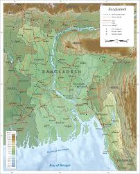 Southwest Asia Physical Map Geography Of Bangladesh Wikipedia