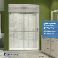 dreamline slimline 32 in by 60 in single threshold shower base