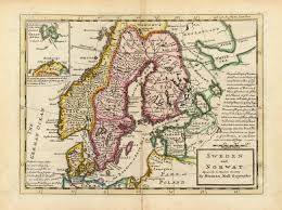 Scandinavia Map Antique Map Of Scandinavia 1736 Stock Photo Picture And Royalty