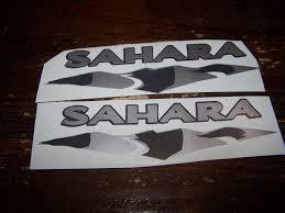 sahara jeep logo jeep wrangler sahara unlimited fender decals yj jk cj tj