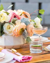 bridal shower decor the prettiest bridal shower centerpieces martha stewart weddings