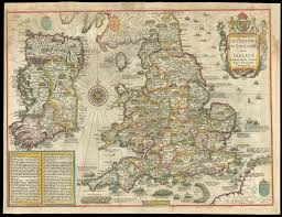 Map Of England And Ireland by Rare Roger Rea Edition Of Speed U0027s Invasions Map Of England Wales