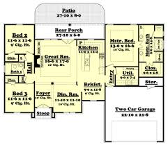 european style house plan 3 beds 2 00 baths 1750 sq ft plan 430 52